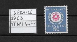 SUISSE SERVICE 1963 YT 424 NEUF** SansCH.  Logo Des Nations Unies (rare Seul) - Dienstpost