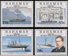 BAHAMAS :   MARCONI Ships H  (set Of 4 Stamps )    MNH - Bahamas (1973-...)