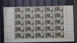 A135-8G  Belle 1/2 Feuille De 25 Timbres De La SAAR N° 311 ** Dont Coin Daté. De Plus En Plus RARE !!! - Neufs
