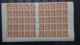 A135-10  Belle 1/2 Feuille De 50 Timbres De Kouang-Tchéou N° 99 ** . De Plus En Plus RARE !!! - Unused Stamps