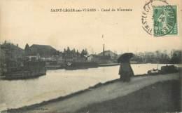 """CPA FRANCE 58 """"Saint Léger Des Vignes, Le Canal"""" - Altri Comuni"""