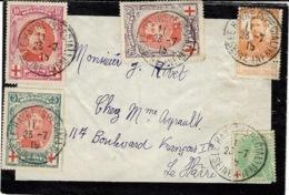 1915- Petite Env. De Deuil Affr. T P Belges Oblit. LE HAVRE ( SPECIAL ) / SEINE INFERIEURE - Andere Brieven