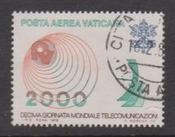 Vatican City AP 65 1978 Telecommunications World Day  .2000 Lire,used - Vatican