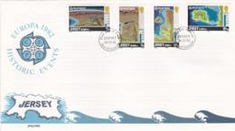 Jersey 1982 272-75 FDC Europa Formation De L'île - Jersey