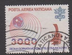 Vatican City AP 67 1978 Telecommunications World Day  .3000 Lire,used - Vatican