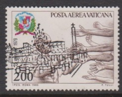 Vatican City AP 68 1980 Pope Travels .200 Lire,used - Vatican