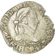 Monnaie, France, Henri III, Franc Au Col Plat, 1583, Bordeaux, TB+,Sombart:4714 - 987-1789 Monnaies Royales