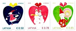 Latvia Lettland 2019 Christmas ,Weihnachten Noël ,Mouse , Snowmen , Gnome , Mnh - Letland