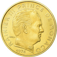 Monnaie, Monaco, Rainier III, 20 Centimes, 1974, FDC, FDC, Aluminum-Bronze - Monaco