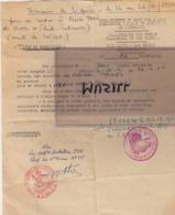 Indochine. Permission De 2 Jours Pour Ming Than (en Venant De Saigon). Colonel Troyes. 21/12/1954 - Documentos