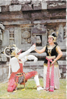 BALI - An Act From Ramayana Dance Showing Hanoman And Shinta - Indonesia