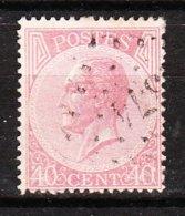 20 Ou 20A  Leopold Ier - Oblit. LP374 VERVIERS - LOOK!!!! - 1865-1866 Profile Left