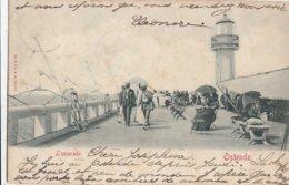 OOSTENDE / STAKETSEL MET VUURTOREN 1903 - Oostende