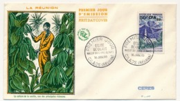 RÉUNION - Enveloppe FDC - 50F CFA Eglise De Cilaos - 16 Janvier 1960 - Covers & Documents