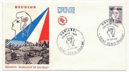 RÉUNION - Enveloppe FDC - 10F CFA - MARIANNE - St Denis De La Réunion - 13 Février 1966 - Reunion Island (1852-1975)
