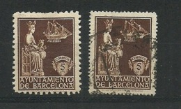 Barcelona 1940 Virgen De La Merced.Edifil 23+23e - Barcelona