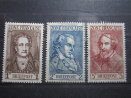 VEND BEAUX TIMBRES D ' ALLEMAGNE ZONE FRANCAISE N° 11 - 13 , XX !!! (a) - French Zone