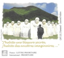 LE DIAMANT MARTINIQUE - SCULPTURE CAP 110, AIME CESAIRE, PAP ENTIER POSTAL FLAMME NEOPOST 2017, VOIR LES SCANNERS - Escultura