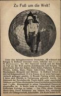 Cp Zu Fuß Um Die Welt, Louis H. Rohmeyer, Weltreisender - Ansichtskarten