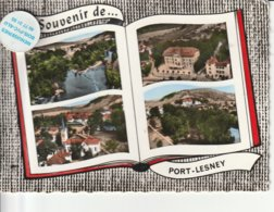 39 - Très Belle Carte Postale Semi Moderne Dentelée De  PORT- LESNEY  Multi Vues - Other Municipalities