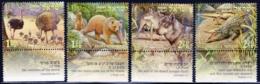Israel, Scott 2019 No. 1589-1592, Issued 2005, Set Of 4 W/ Tabs, MNH, Cat. $3.50, Biblical Animals - Nuovi (con Tab)