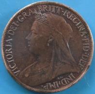 "ROYAUME-UNI 1 Farthing Victoria ""Old Head"" 1901, TTB+ - 1816-1901 : Coniature XIX° S."