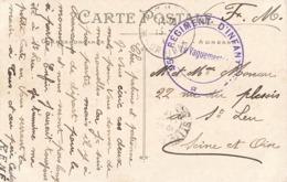 Marcophilie Cachet Guerre 1914 1918 Cachet 45e Regiment Infanterie Sur Cpa Lorient Arsenal De La Marine - Postmark Collection (Covers)
