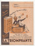 JC , Protége Cahier , LA TRIOMPHANTE , Ets MENU FRERES , POITIERS , 2 Scans , Frais Fr 1.95 E - Protège-cahiers
