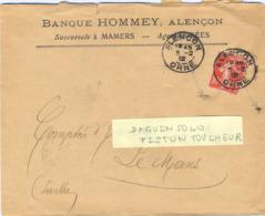 DAGUIN SOLO ALENCON ORNE Du 3-2-12 - En-tête BANQUE HOMMEY - Marcophilie (Lettres)