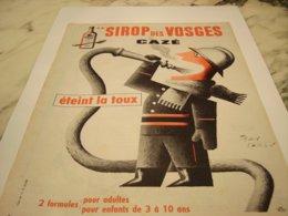 ANCIENNE PUBLICITE SIROP  DES VOSGES DE CAZE 1954 - Pubblicitari