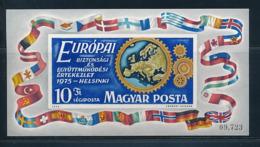 UNGARN Mi.Nr. Block 113 B EUROPA -KSZE- 1975-  MNH - 1975