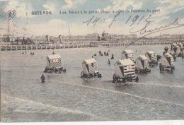 OOSTENDE  /  KLEIN STRAND / CABINES EN STAKETSEL 1912 - Oostende