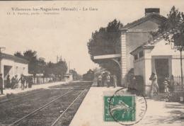 Hérault - VILLENEUVE Les MAGUELONE - La Gare - Arrivée Du Train - Otros Municipios