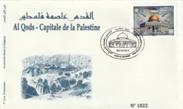 Maroc. FDC Avec Timbre 2019. Al Qods - Capitale De La Palestine. Cachet De Rabat. Musée De La Poste. - Marruecos (1956-...)