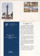 India FDC (Mumbai) + Info., 1997, INDEPEX 97, Buddhist Culture Sites, Bhuddism, Se-tenent,, Moument - Buddismo