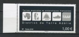 TAAF 2018  N° 868 **  Neuf MNH Superbe Oiseaux Manchots Bateaux Districk De Terre Adélie Logos Birds Ships Cartes - Nuevos