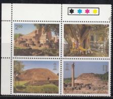 India MNH 1997, INDEPEX 97, Se-tenent Traffic, Philately Exhibition, Buddhist Culture Sites, Buddhism, Religion, - India