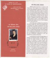 Stamped Info India 1997 Sir William Jones London Born Sanskrit Scholar Indologist  Sanskrit Greek Latin Language Root, - Other