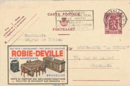 Publibel 651 Robie-Deville Bruxelles 1947 Segelschiff Einrichtung Möbel - Stamped Stationery