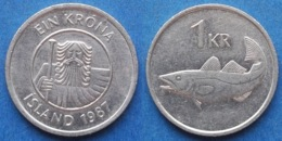 "ICELAND - 1 Krona 1987 ""cod"" KM# 27 Republic (1944) - Edelweiss Coins - Iceland"