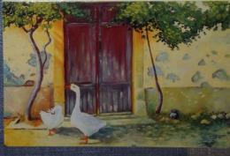 Petit Calendrier De Poche 1994  Illustration APBP Ambiance Campagnarde  Oie....peint Avec Avec Le Bouche - Calendars