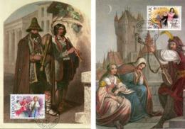 FEROE. N°110-1 De 1985 Sur 2 Cartes Maximums. Année Européenne De La Musique. - Europa-CEPT