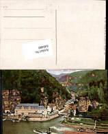 640480,Böhmische Schweiz Hrensko Herrnskretschen Dampfer - Cartoline