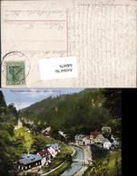 640479,Böhmische Schweiz Hrensko Herrnskretschen Partie - Cartoline