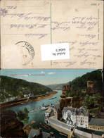 640473,Böhmische Schweiz Schöna Hrensko Herrnskretschen Dampfer - Cartoline