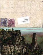 640471,Böhmische Schweiz Hrensko Herrnskretschen Prebischkegel Prebischtor - Cartoline