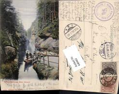 640462,Böhmische Schweiz Hrensko Herrnskretschen Edmundsklamm Pub Poy 4505 B - Cartoline
