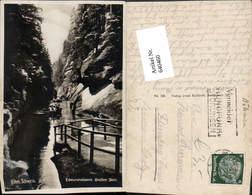 640460,Böhmische Schweiz Hrensko Herrnskretschen Edmundsklamm - Cartoline