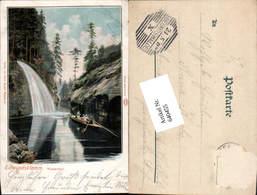 640455,Böhmische Schweiz Hrensko Herrnskretschen Edmundsklamm Boot - Cartoline