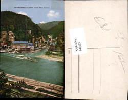 640453,Böhmische Schweiz Hrensko Herrnskretschen Dampfer - Cartoline